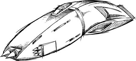Spaceship UFO Sketch    Illusztráció