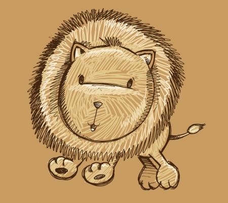 Lion Sketch Doodle Art Illustration