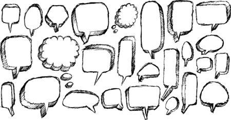Speech Bubble Sketch Doodle Illustration Vector Art Ilustrace