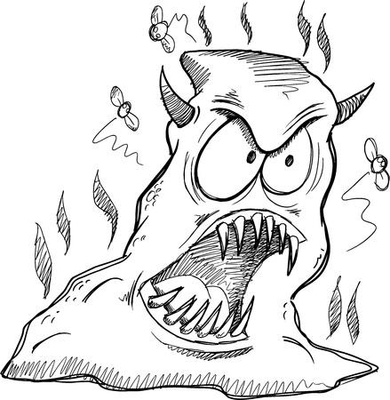 dodo: Monster Poop Sketch Drawing Art