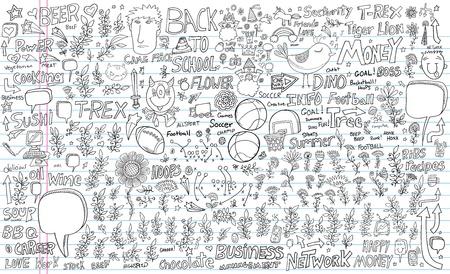 Notebook Doodle Design Elements Vector Set