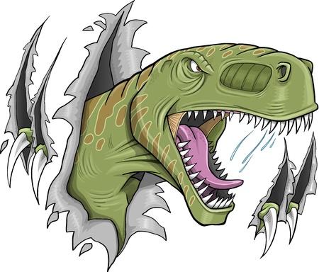 tyrannosaurus: Tyrannosaurus Rex Dinosaur Vector Illustration  Illustration