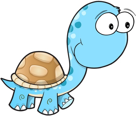 silly: Silly Cute Turtle Art