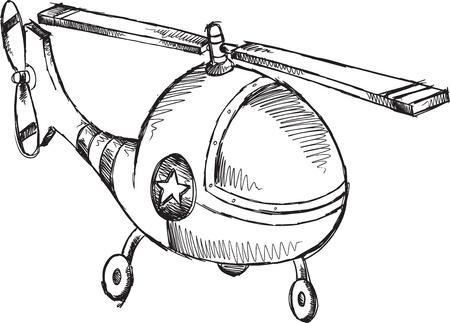 Helicopter Doodle Sketch Illustration Art