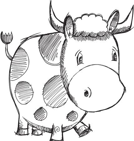sketch: Cow Sketch Doodle Illustration Art