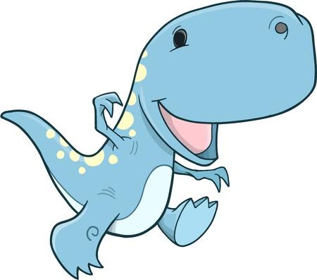 Tyrannosaurus Rex Dinosaur Vector Illustration Art Vector