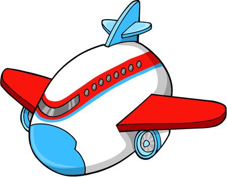 jumbo: Cute Jumbo Jet Vector Illustration Art