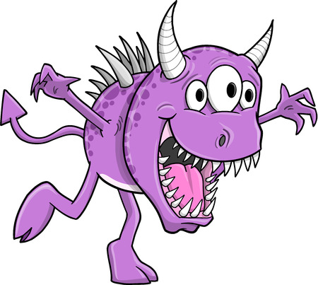 Cute Halloween Monster Vector Illustration Art Ilustrace