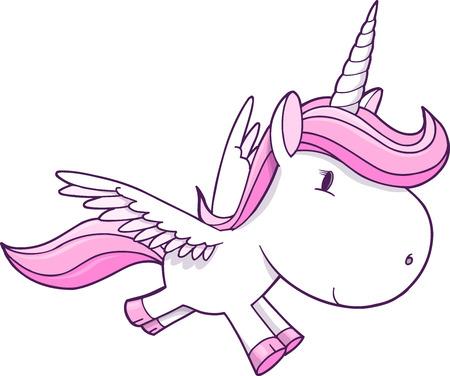 Unicorn Pegasus Vector Illustration Art Vector