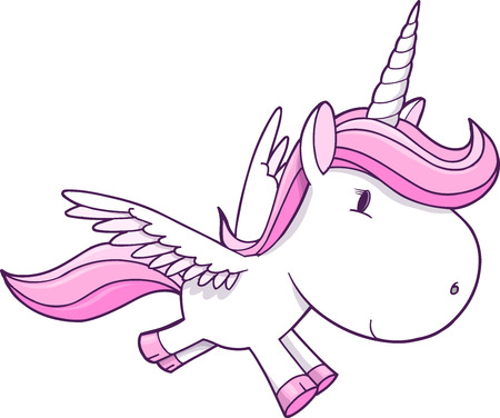 Unicorn Pegasus Vector Illustration Art Фото со стока - 22381151