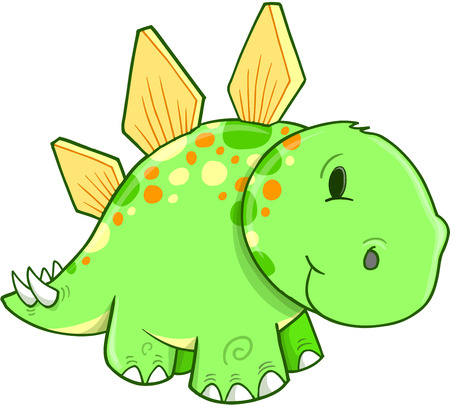 stegosaurus: Cute Stegosaurus Dinosaur Vector Illustration Illustration