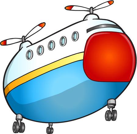 Rescue transport Helicopter Vector Illustration Art