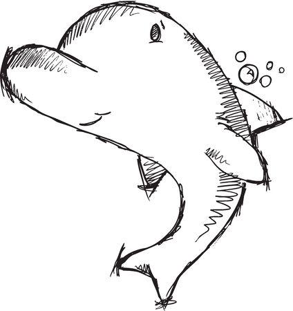 Delfin rysunek szkic wektor Zdjęcie Seryjne - 25234169