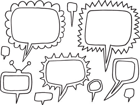 Speech Bubble Funky Doodle Illustration Vector Art Ilustrace