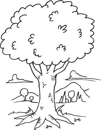 Tree Doodle Vector Illustration Art