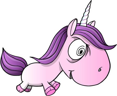 insane: Crazy Insane Unicorn Pony Horse Vector Illustration Art