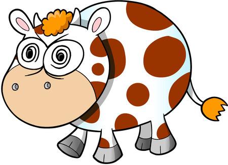 insane: Crazy Insane Cow Vector Illustration Art