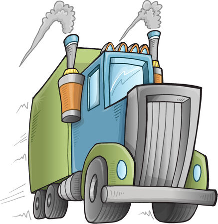Big Cute Truck Vector Illustration Art