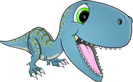 t rex: Happy Dinosaur T-Rex Illustration Art