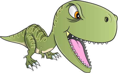 tough: Tough Dinosaur T-Rex Illustration Art Illustration