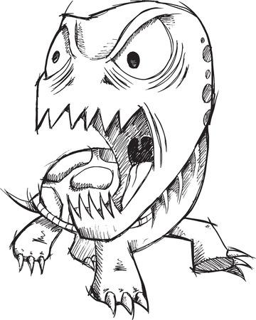 insane: Insane Crazy Doodle Turtle Vector Art Illustration