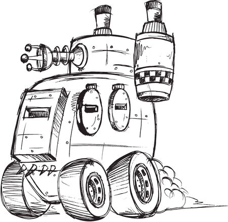 armored truck: Armored Truck Vector Sketch Illustration Art