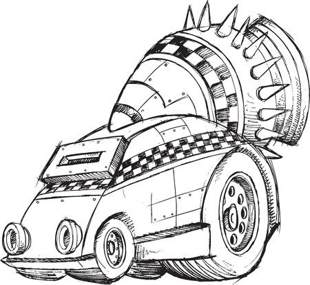 booster: Armored Car v�hicules Sketch Vector Illustration Art