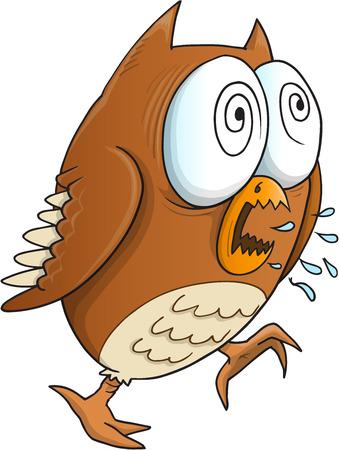 owl illustration: Insane Crazy Owl Vector Illustration Art Illustration
