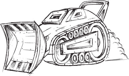 Armored Car Vehicle Sketch Vector Illustration Art Vector