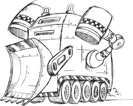 Armored Truck Vehicle Sketch Vector Illustration Art Vector