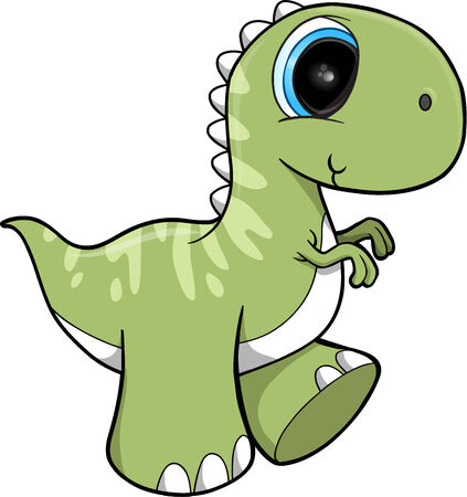 tyrannosaurs: Cute Dinosaur Vector Illustration Art