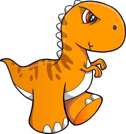 tough: Tough Dinosaur Vector Illustration Art Illustration