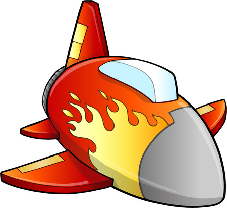 Aircraft Jet Illustration Art