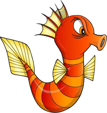 sea horse: Nasty Sea Horse Vector Illustration Art Illustration
