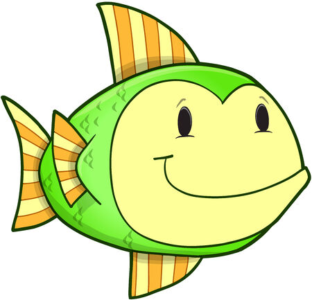 Cute Fish Vector Illustration Art Иллюстрация