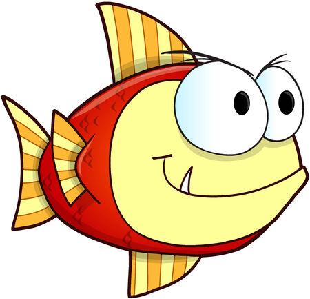 nasty: Mean Nasty Fish Vector Illustration Art