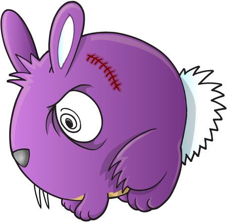 hostile: Vampire Bunny Rabbit Vector Illustration Art