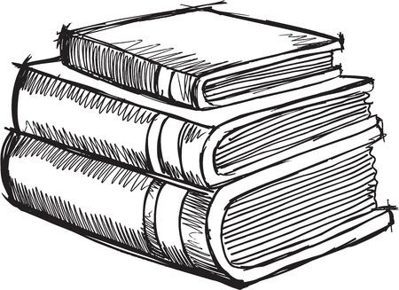 Doodle Sketch Books Vector Illustration Art