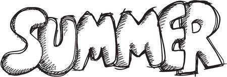 Doodle Sketch Summer Vector Illustration Art