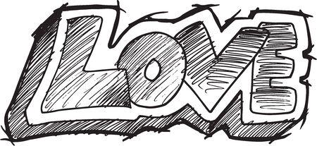 Doodle Sketch Love Vector Illustration Art