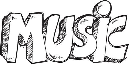 Doodle Sketch Music Vector Illustration Art Ilustracja