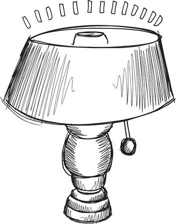 lamp shade: Doodle Sketch Lamp Vector Illustration Art