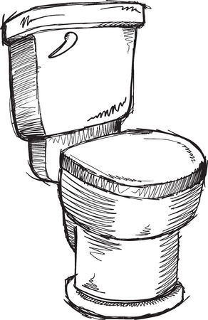 urine: Doodle sketch Toilet Vector Illustration Art Illustration