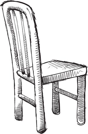 vector chair: Doodle Sketch Chair Vector illustration Art