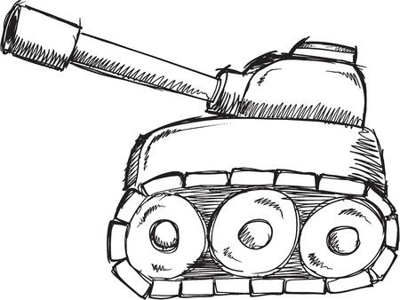 Doodle Sketch Tank Vector Illustration Art 版權商用圖片 - 38636918