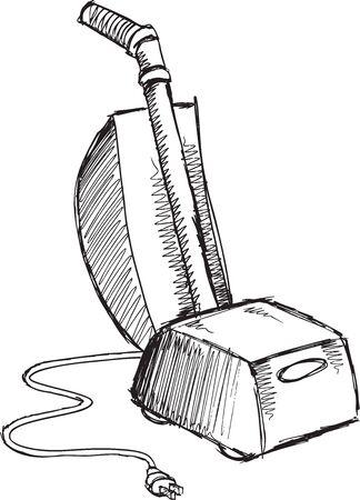 spazzatrice: Doodle Sketch vuoto illustrazione vettoriale arte