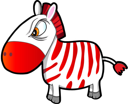 nasty: Nasty Tough Zebra Vector Illustration Art