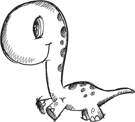 cute baby dinosaur vector illustration art royalty free cliparts