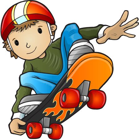 skateboarder: Skateboarder Vector Illustration Art Illustration