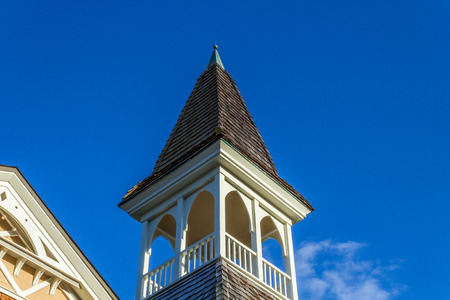 church steeple: Church Steeple with blue skies